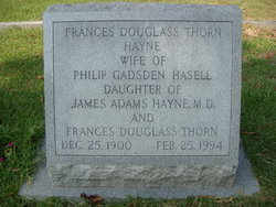 Frances Douglass Thorn <i>Hayne</i> Hasell