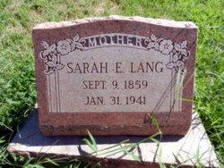 Sarah E. Lang