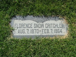 Florence <i>Snow</i> Critchlow