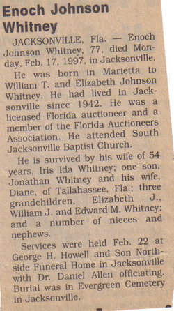 Enoch Joseph Johnson Nicky Whitney