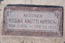 Rosina <i>Knutti</i> Hirschi
