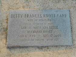 Betty Frances <i>Knott</i> Carr