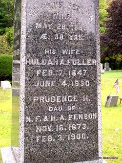 Huldah A <i>Fuller</i> Benson