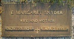 E Margaret Snyder