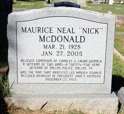 Maurice Neal Nick McDonald