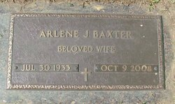 Arlene Jane <i>Adams</i> Baxter