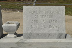 Alice M. <i>Holland</i> Anderson