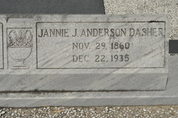Jannie Jane <i>Anderson</i> Dasher