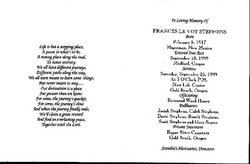 Frances Levoy <i>Pilley</i> Stephens