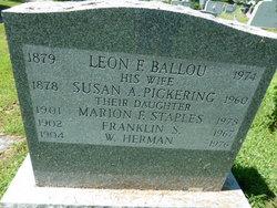 Marion Francis <i>Ballou</i> Staples