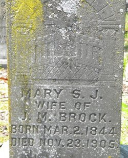 Mary S. J. Mollie <i>Vaughn</i> Brock