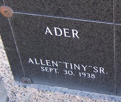 Allen E Tiny Ader, Sr