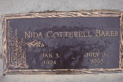 Nida Mary <i>Cotterell</i> Baker