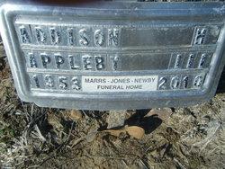 Addison H Appleby, III