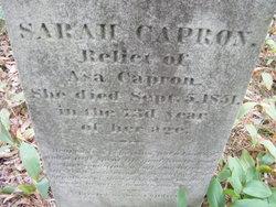 Sarah <i>Arnold</i> Capron
