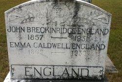 Emma M <i>Caldwell</i> England
