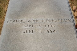 Frances <i>Arnold</i> Richardson