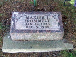 Maxine Ione <i>James</i> Frommelt