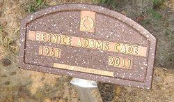 Bernice <i>Adams</i> Cade