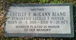 Lucille F <i>McGann</i> Biano