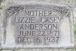 Lizzie <i>Casey</i> Anderson