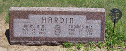 Mary Ann <i>Nichols</i> Hardin