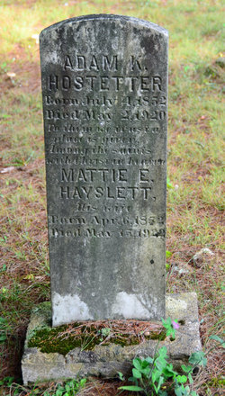 Martha Elizabeth <i>Hayslette</i> Hostetter