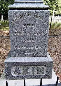 Col Ransom Wallace Akin, I