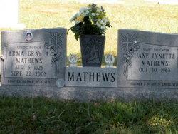 Erma Julia <i>Gray</i> Albritton Mathews