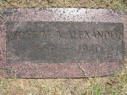 Monroe W Alexander