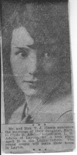 Ruth Evelyn <i>Harris</i> Adams