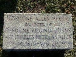Caroline Olivia Carrie <i>Allen</i> Avera