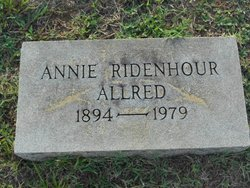 Annie <i>Ridenhour</i> Allred
