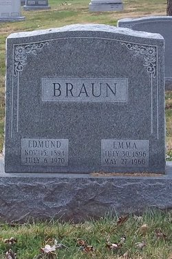 Mrs Emma <i>Bollinger</i> Braun