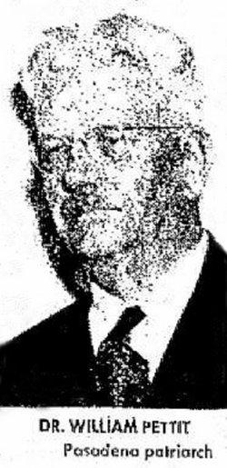 Dr William Alfred Pettit, Sr