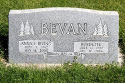 ANNA L. <i>IRVING</i> BEVAN