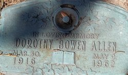 Dorothy Elizabeth <i>Bowen</i> Allen