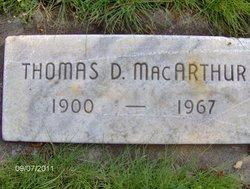 Thomas D McArthur