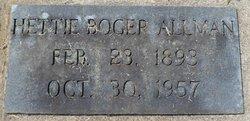 Hattie Mary Ellen <i>Boger</i> Allman