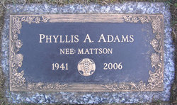 Phyllis Ann <i>Mattson</i> Adams