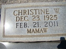 Christine W Mamaw Davis
