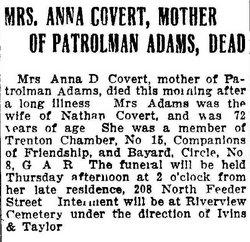 Deborah Anna <i>Vandegrift</i> Covert