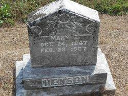 Mary E. <i>Hutchens</i> Henson