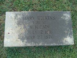 Mary <i>Wilkins</i> Cain
