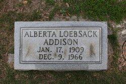 Alberta <i>Loebsack</i> Addison