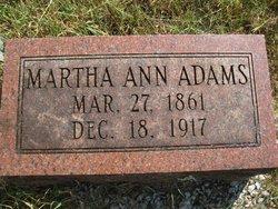 Martha Ann <i>Shipman</i> Adams