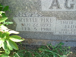 Myrtle Maude <i>Pike</i> Agee