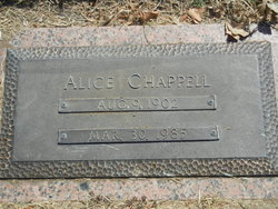 Alice R <i>Brown</i> Chappell