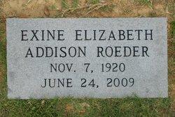 Exine Elizabeth <i>Addison</i> Roeder