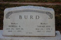 Sarah Ann <i>Miller</i> Burd